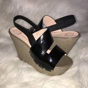 20bc704556aa Versace patent leather wedges sz 39 eur
